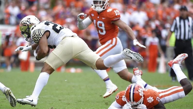 Matt Colburn tackled