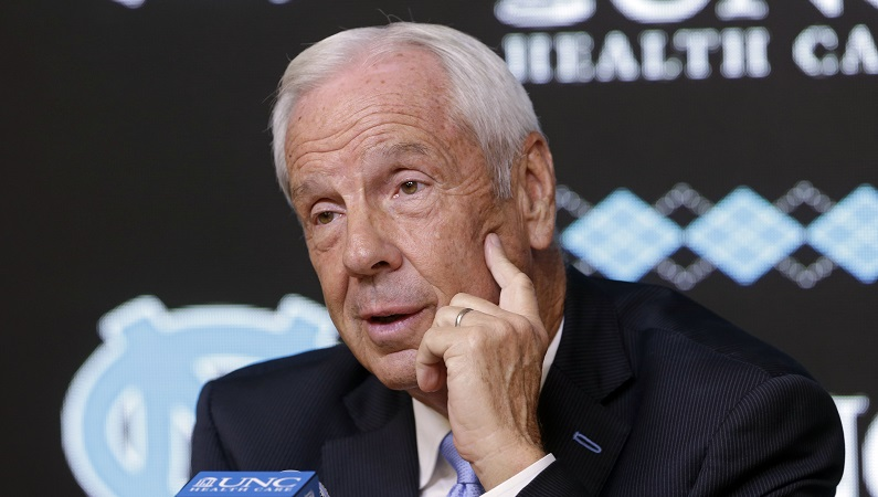 Roy Williams speaks at press conference