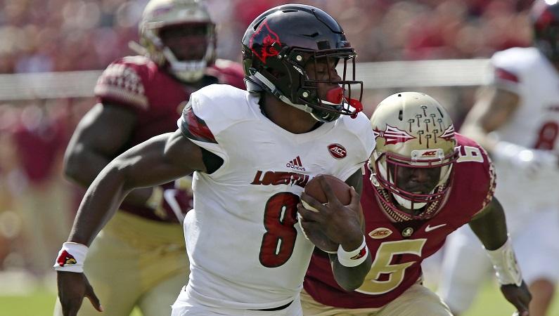 Lamar Jackson running