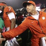 Dabo Swinney shaking hands