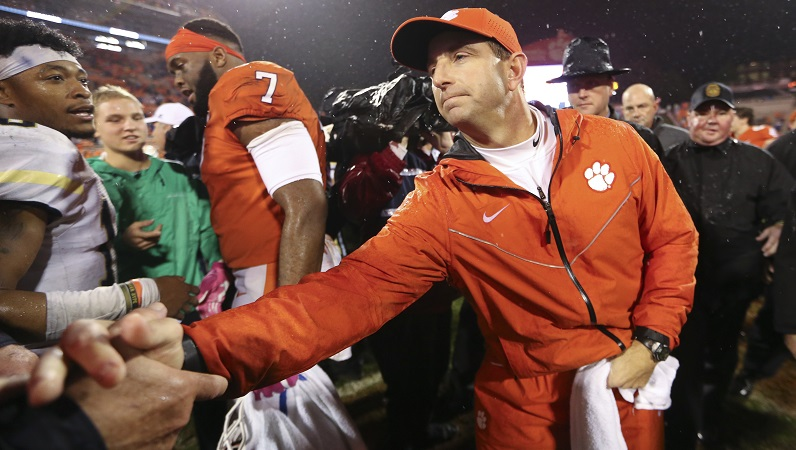 Vegas odds on Clemson-NC State