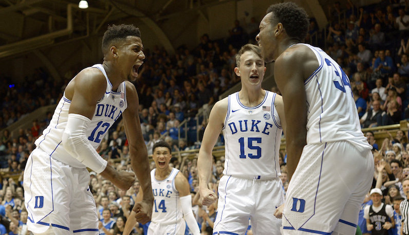 Duke basketball celebrates