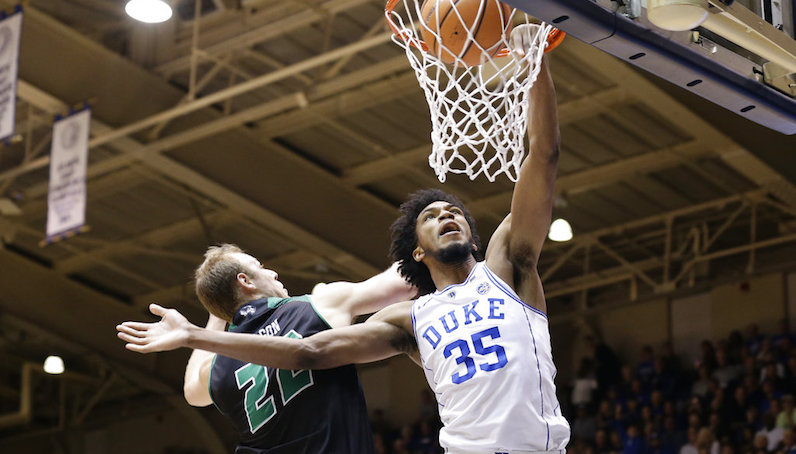 Marvin Bagley dunks