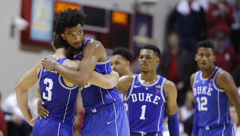 Marvin Bagley hugs