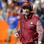 Jimbo Fisher stands