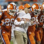Dabo Swinney walks