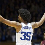 Marvin Bagley celebrates