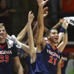 Virginia basketball celebrates