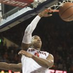 Devon Hall dunks