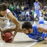 Luke Maye dives