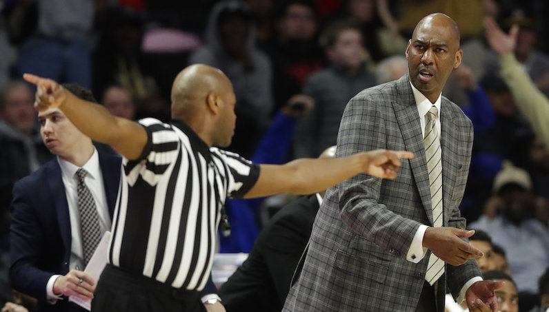 Danny Manning reacts