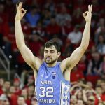 Luke Maye reacts