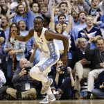 Theo Pinson reacts