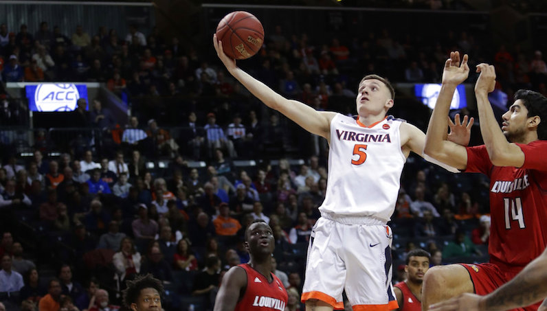 Kyle Guy shoots