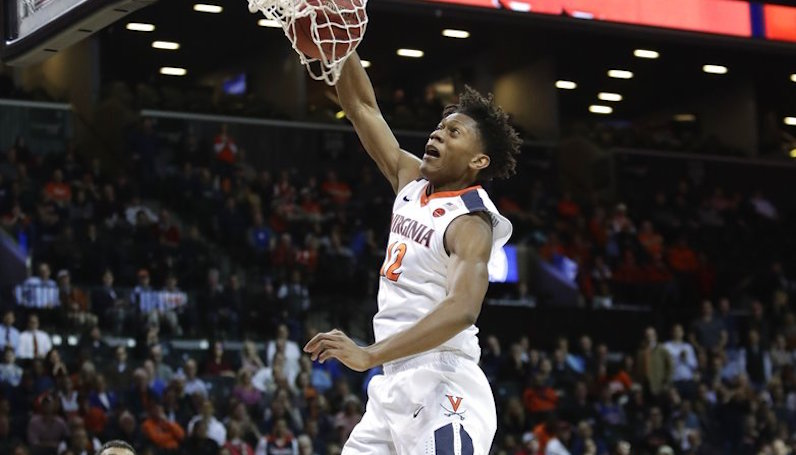 Virginia's De'Andre Hunter to miss NCAA tournament because of broken wrist