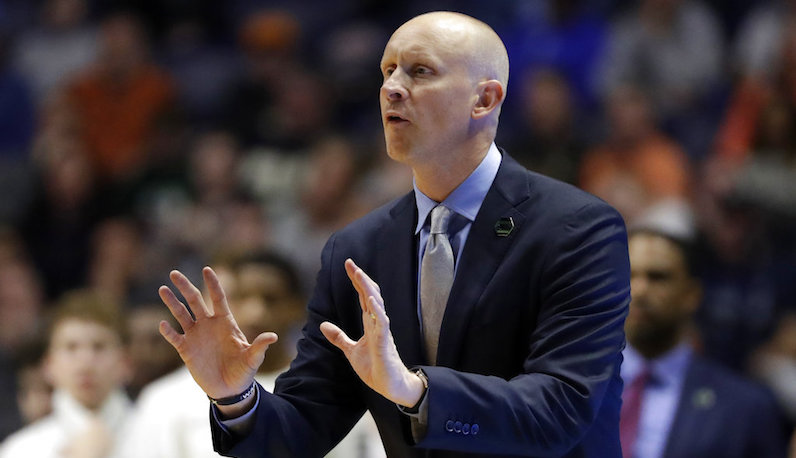 Chris Mack gestures