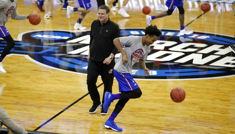 Empty seats fill stadium as Jayhawks prepare for Sweet Sixteen