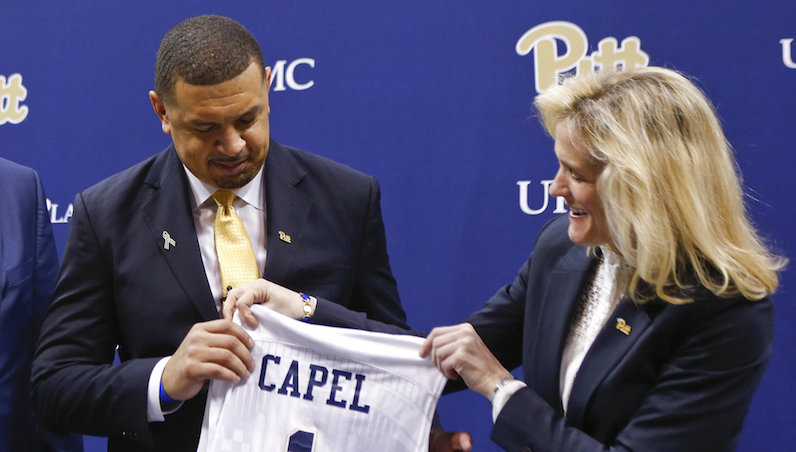 Jeff Capel receives