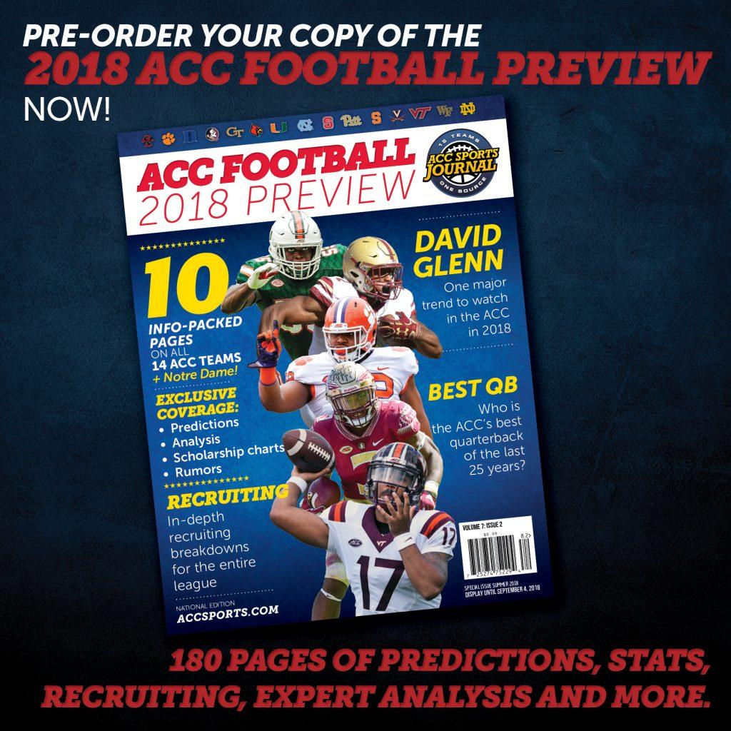 2018 ACC Football Magazine Pre-Order