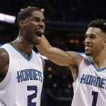 Marvin Williams celebrates