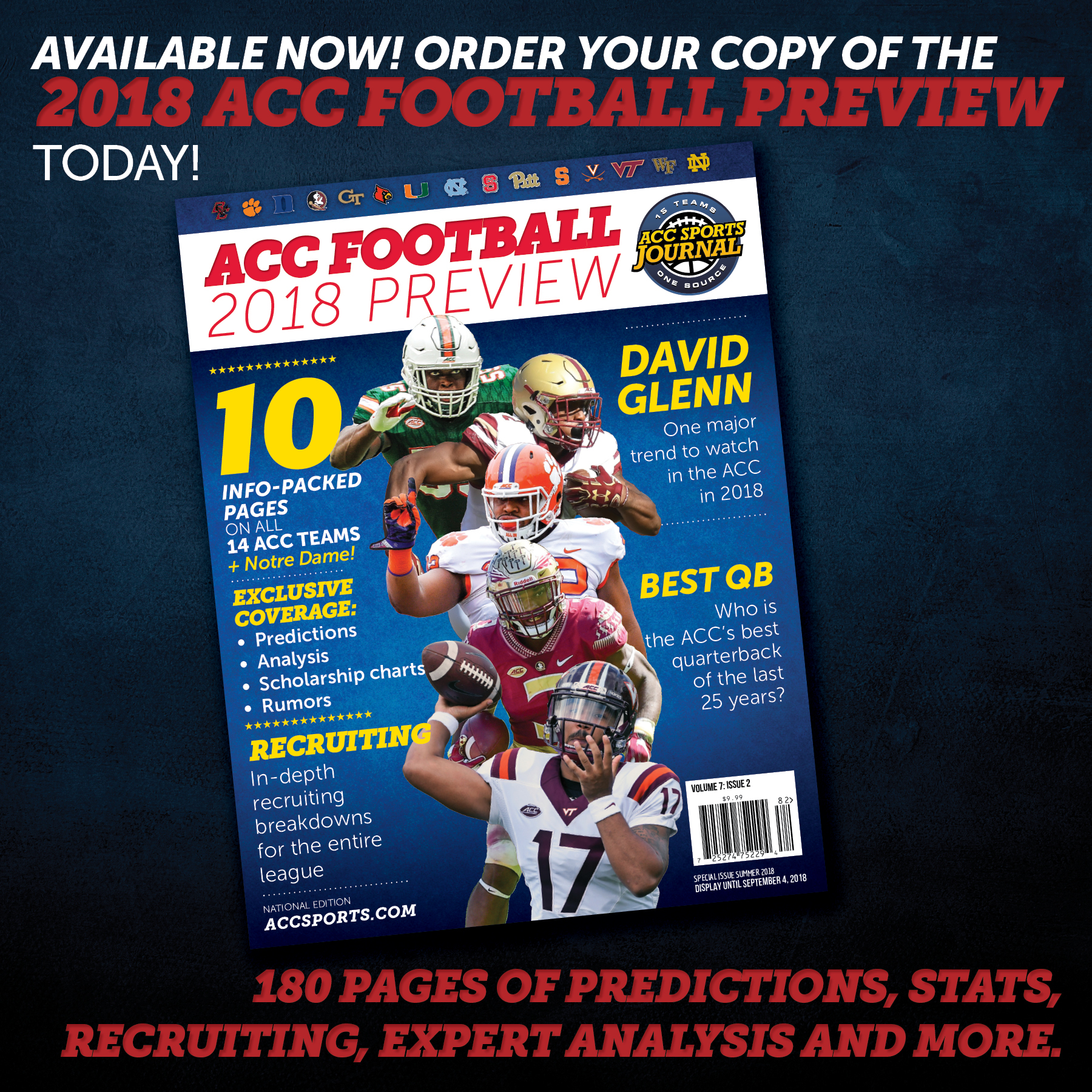 2018 acc football preview magazine accsports com