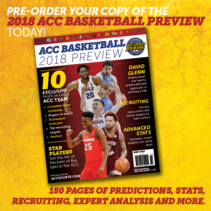 2018 ACC Basketball Preview Magazine Cover