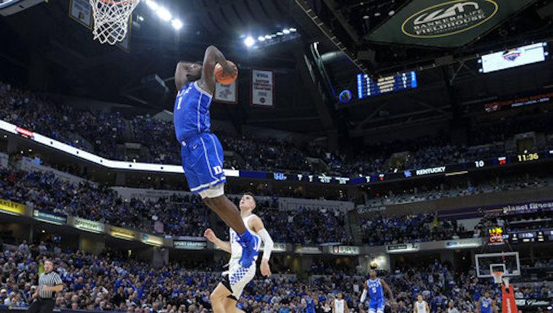 Zion Williamson dunks