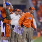 Dabo Swinney coaches