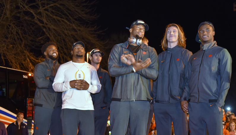 Clelin Ferrell stands