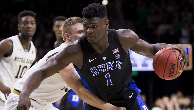 Zion Williamson drives