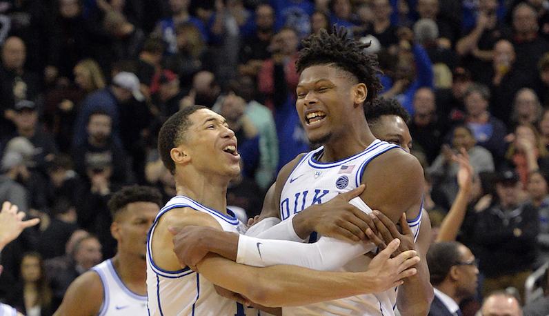 Duke basketball comeback