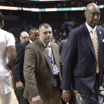 Danny Manning leaves court