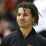 Cole Anthony smiles