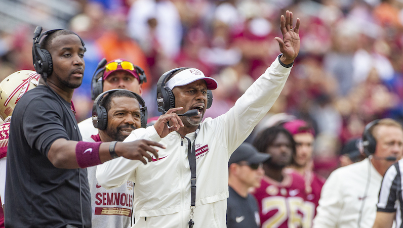 Willie Taggart shouts