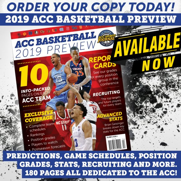 2019 ACC Basketball Preview magazine cover