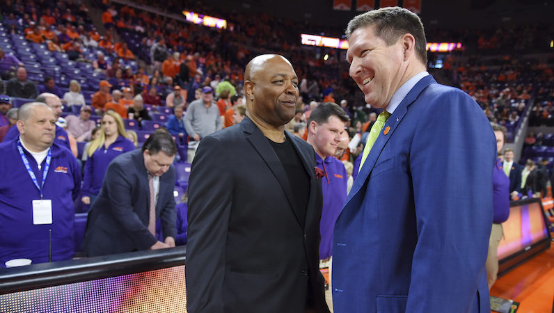 Brad Brownell laughs