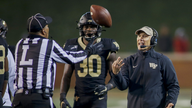 Dave Clawson tosses